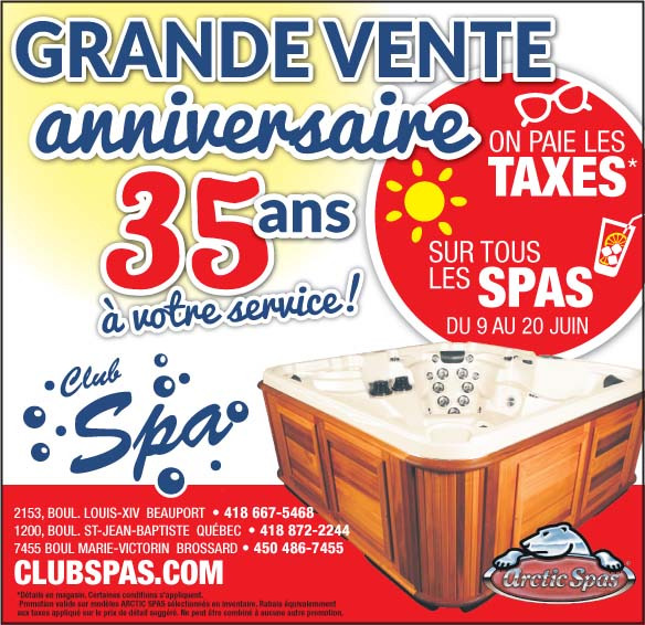 Promotions club spa for Club piscine brossard qc