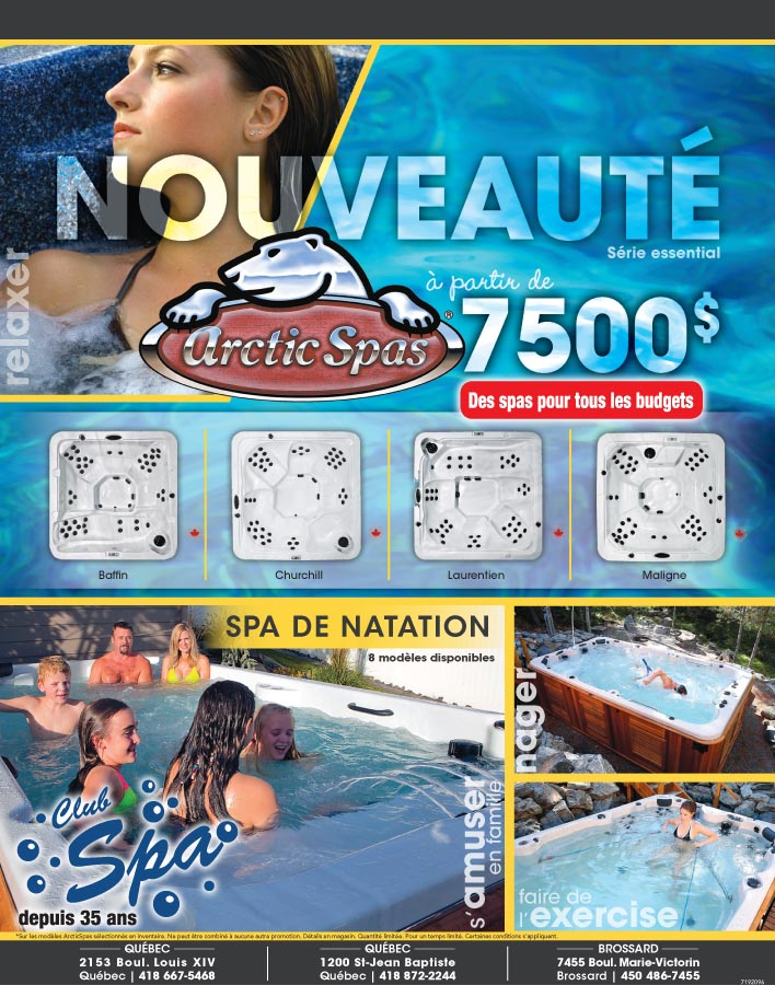 Club spa l 39 endroit id al pour le spa au qu bec unique for Club piscine brossard qc